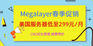 Megalayer美国服务器活动