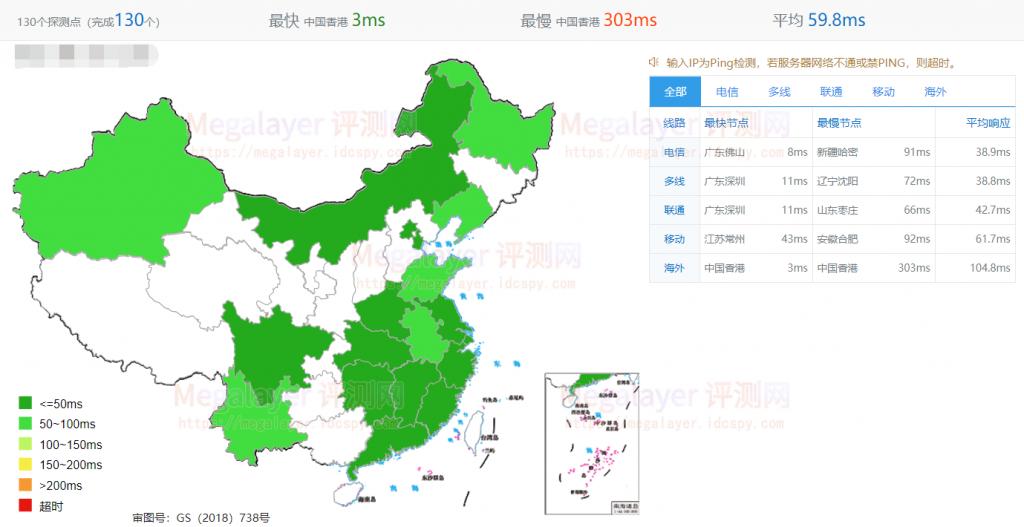 Megalayer香港CN2服务器速度延迟
