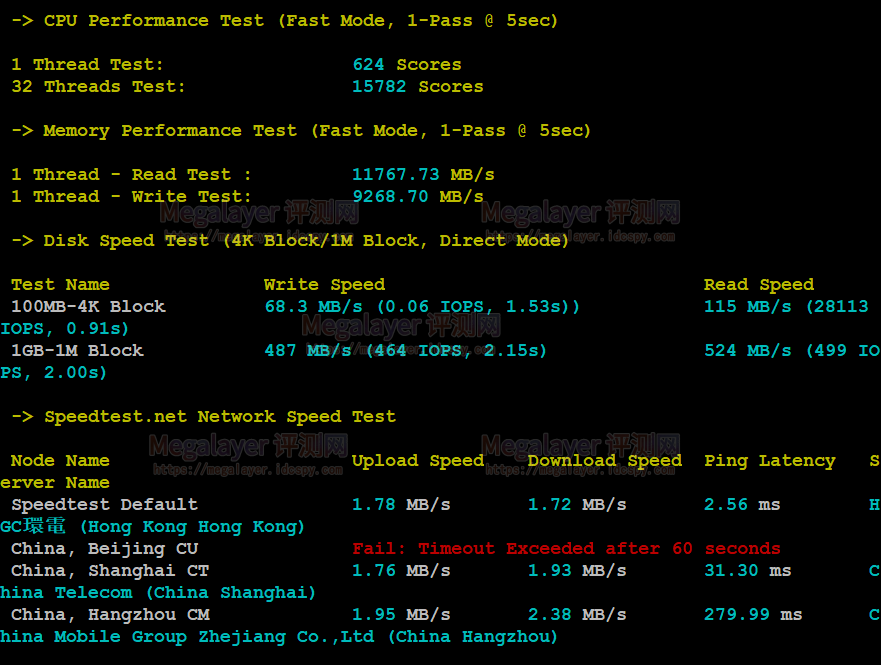 CPU内存现成测试